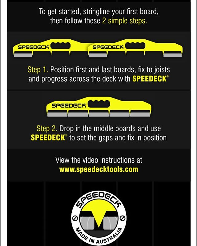 Speedeck decking spacing gauge pro tool various sizes ebay