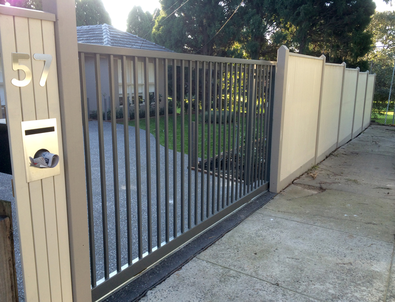 Campbell and Johns Out of Square Sliding Gate