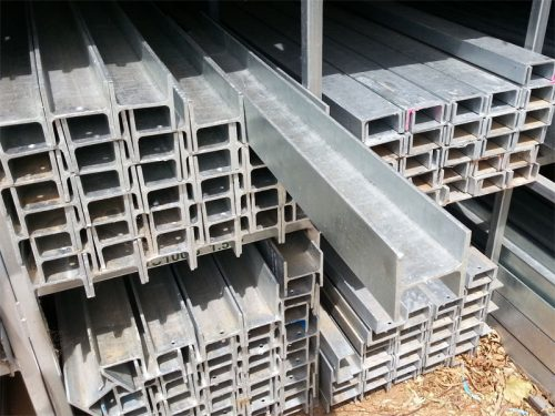 "Galvanised Sleeper Wall Channel ""H"" for 75mm Sleepers 14.8kg/m"