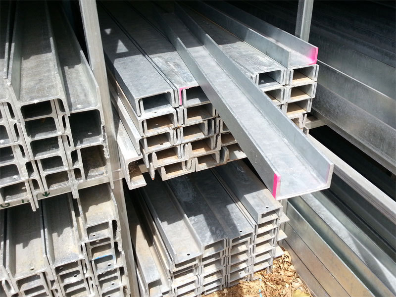 "Galvanised Sleeper Wall Parallel Flange Channel ""C"" 100mmx50mm 8.3kg/m"