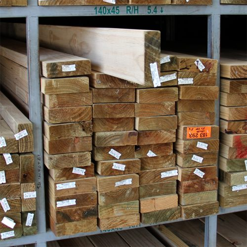 Treated Pine H3 Rougher Head 140x45 Kiln Dried F5-F7