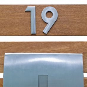 75mm Stick On Stainless Steel Mailbox Numeral