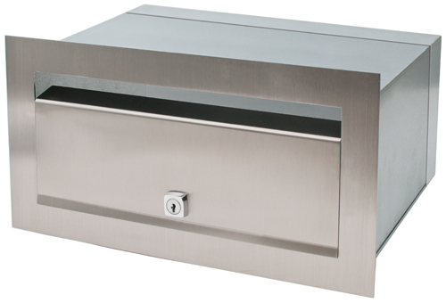 Stainless Steel Palazzo Brick in Front Open Mailbox suits A4