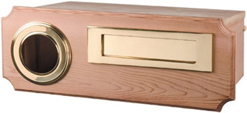 Beaumont Cedar Mailbox, Fence Mount with Brass Fittings