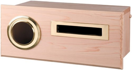 Oxford Cedar Mailbox, Fence Mount with Brass Fittings