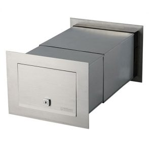 Stainless Steel Palazzo Brick in Back Open Mailbox suits A4 - Inc Sleeve