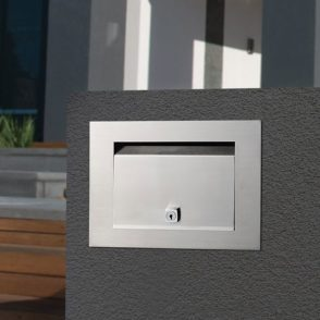 Stainless Steel Preston Brick in Front Open Mailbox - Includes Sleeve