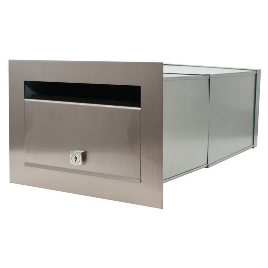 Stainless Steel Preston Brick in Front Open Mailbox – Includes Sleeve