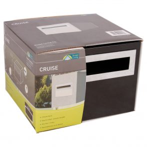 Brick In - Cruise Mailbox with Chrome Fittings - 3 available colours