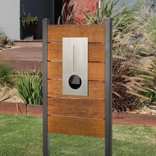 Stainless Steel Hendon Panel Mailbox