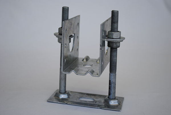 KlevaKlip Adjustable Joist Support Hanger Bracket for building over a concrete slab