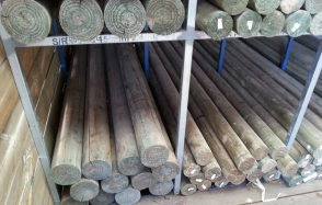 Treated Pine H4 Super Round Lathed Poles 75mm, 100mm, 125mm 150mm diameter