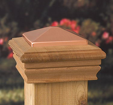 Post Cap Newport Copper High Top – Western Red Cedar – to suit 90-98mm Post