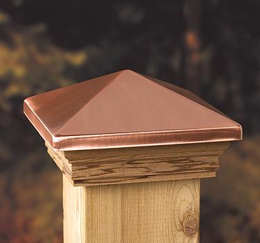Buy Online, Cedar Post Cap Copper Pyramid | Demak Timber