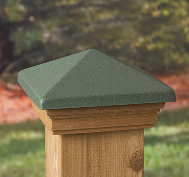 Post Cap Patina Green Copper High Top - Western Red Cedar - to suit 90-94mm Post