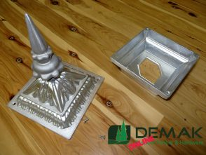 Cast Aluminium Post Cap - Spear Top