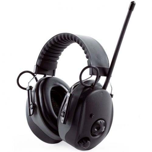 Top Quality AM/FM Radio Earmuffs with Aux Jack for iPod / mp3 player