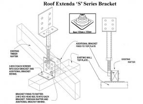 "Roof Extenda Bracket with Weather Seal - ""S"" Series Longer Brackets"