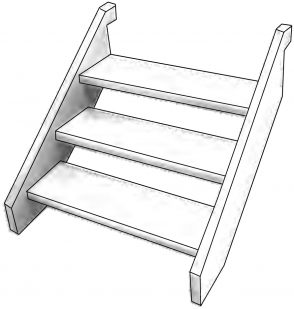 Flat Pack Treated Pine Stairs 240x45 - Includes Fixings