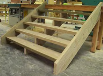 Flat pack treated pine stairs 240x45 includes fixings for Flat pack garden decking