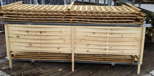 Woven Panel Lattice / Trellis 2400mm x 500mm Fence Extension with Legs