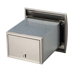 Stainless Steel Roma Brick in Back Open Mailbox suits A4 - Inc Sleeve