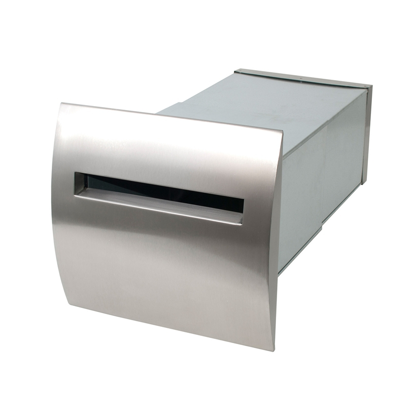 Stainless Steel Roma Brick in Back Open Mailbox suits A4 – Inc Sleeve