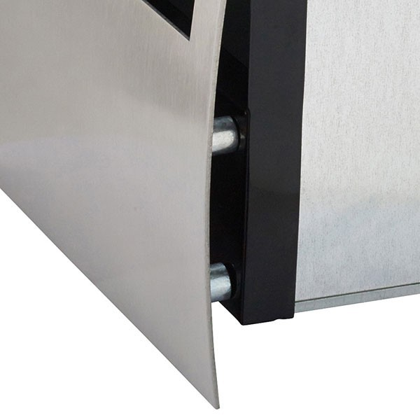 open mailbox. stainless steel torino open mailbox