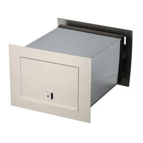 "Stainless Steel Torino ""Floating"" Brick in Back Open Mailbox suits A4 - Includes Sleeve"