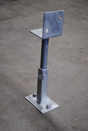 KlevaKlip Adjustable Bearer Support Bracket for decks on a concrete slab
