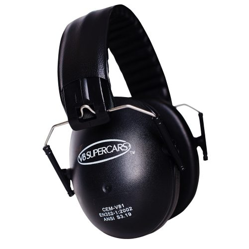 V8 Supercars Kids Earmuffs - Light Weight Hearing Protection for Little Ears