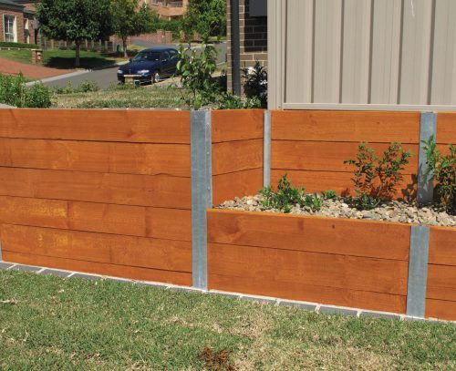 Micropro Sienna Treated Pine Coloured Sleepers 200mmx50mm