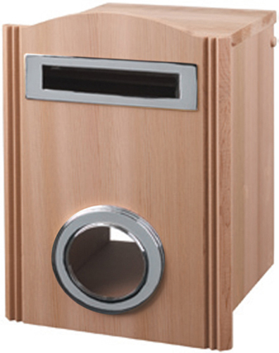 Wycombe Cedar Mailbox, Fence Mount with Chrome Fittings