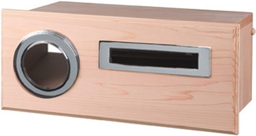 Oxford Cedar Mailbox, Fence Mount with Chrome Fittings