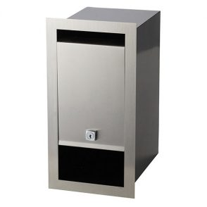 Stainless Steel Boston Front Open Mailbox - Brick in or Timber