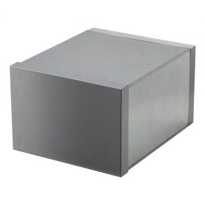 Stainless Steel Milano Brick In Front Open Mailbox suits A4 - Includes Sleeve