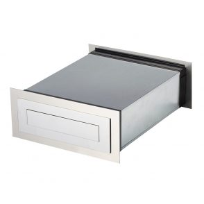 Stainless Steel Carrera Brick In Rear Open Mailbox - Includes Sleeve