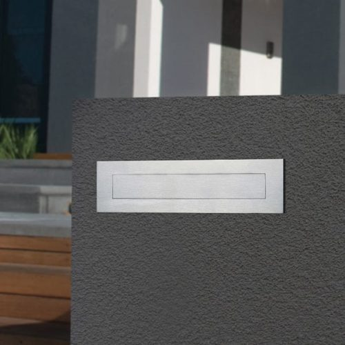 Stainless Steel Letter Plate for Brick or Timber Mailbox 290mm Suits A4