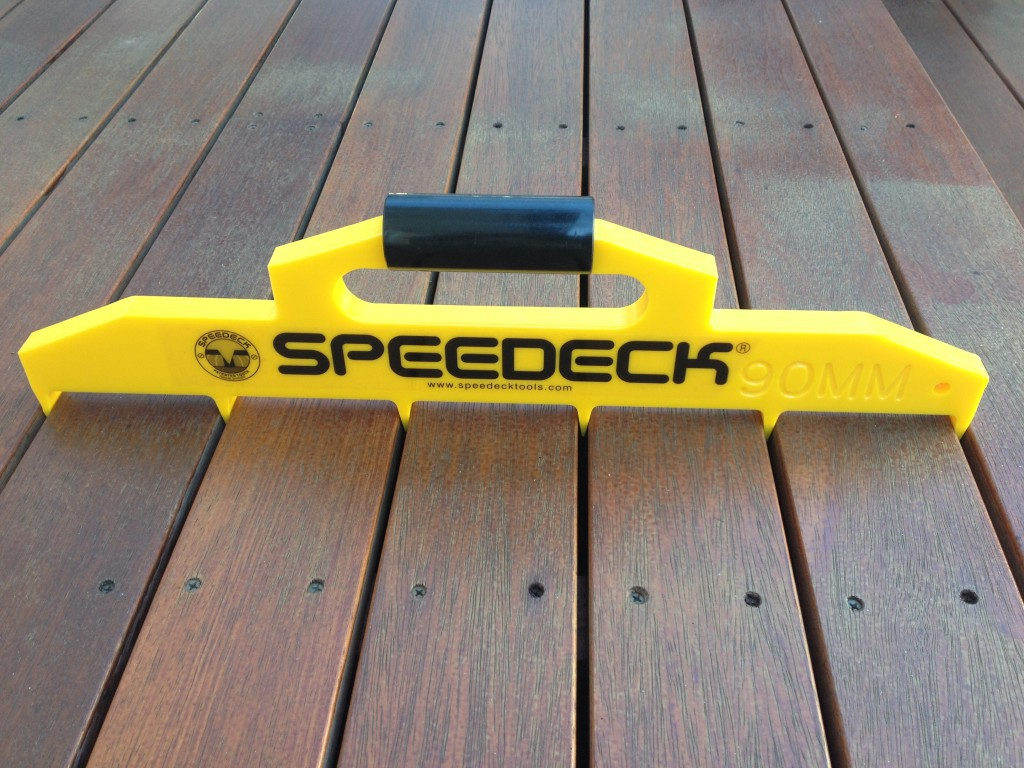 Buy online speedeck decking spacing guage tool demak timber for Timber decking spacers