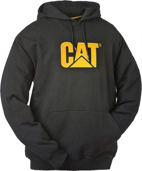 Cat Trademark Hooded Sweatshirt - Black
