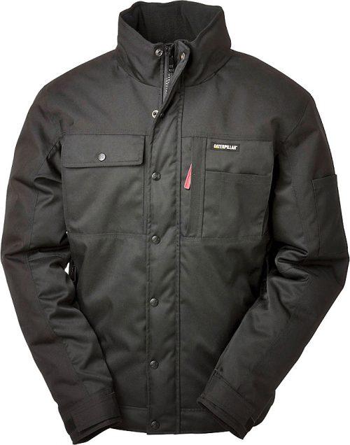 Cat Insulated Twill Jacket - Black