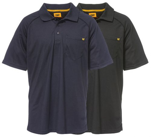 Cat Raglan Performance Pocket Polo