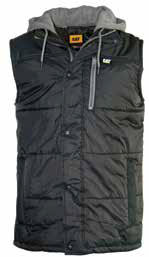 Cat Hooded Work Vest - Black