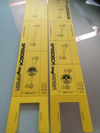 Buy Online, Speedeck Easy Mark Decking Screw Layout Guide 90mm 140mm