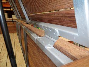 Pool Box Merbau wood Gas strut lid - Demak Outdoor Timber & Hardware