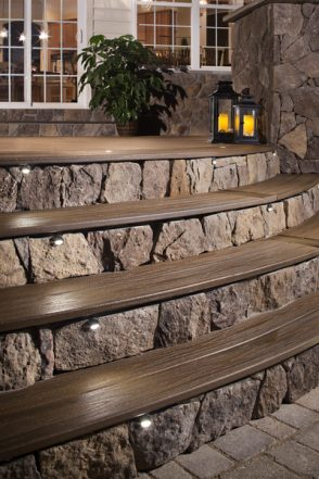decking lights with sensors