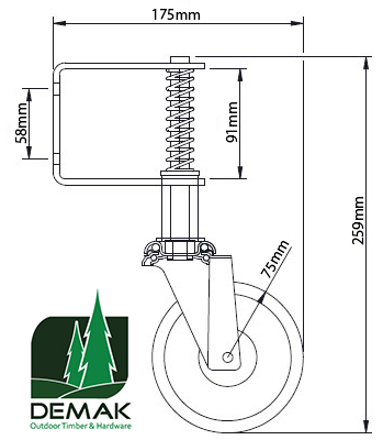 Gate Support Wheel from Demak Outdoor Timber & Hardware